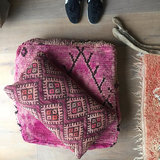 Grote vierkante Boujaad Poef berber 60x60x20cm_