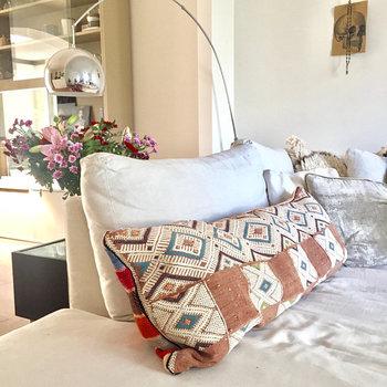 Kelim pillow XL (zalm) 110x40cm